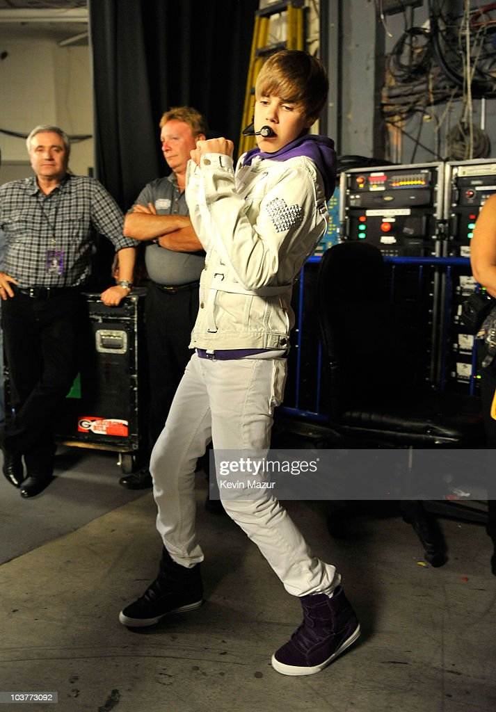 Justin Bieber My World Tour Madison Square Garden Backstage Getty Images