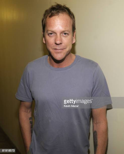 WESTWOOD CA JULY 12 *Exclusive* Keifer Sutherland backstage at the 2008 VH1 Rock Honors honoring The Who at UCLA's Pauley Pavilion on July 12 2008 in...