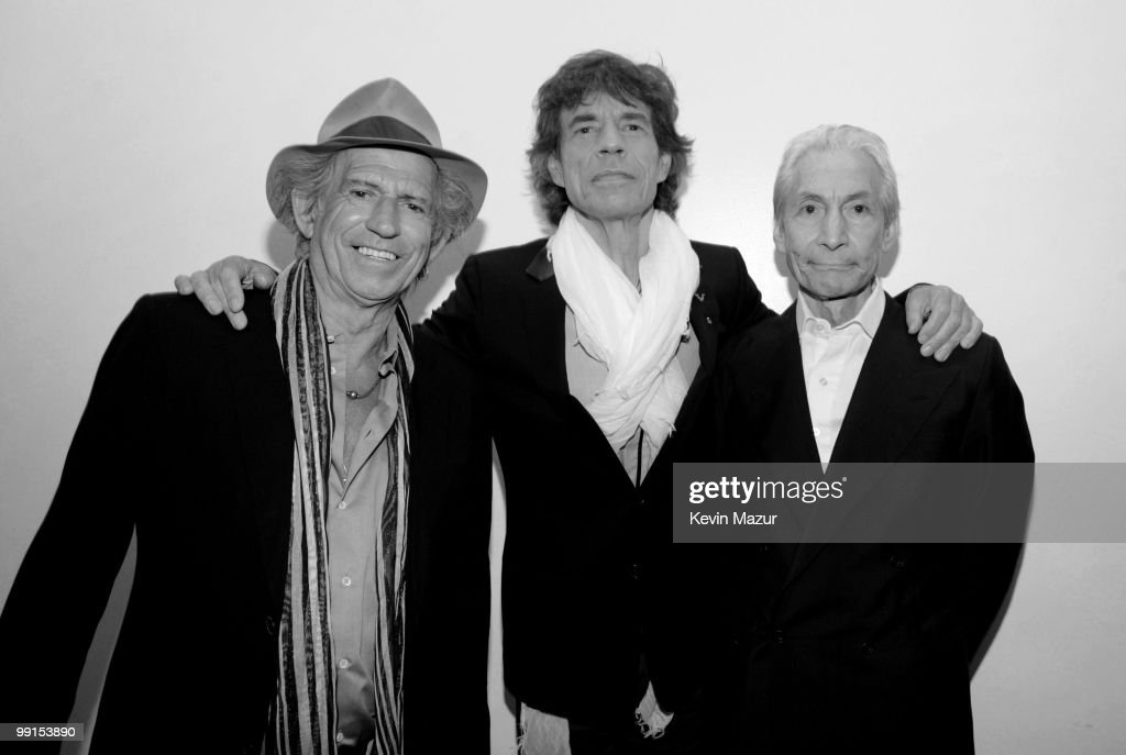 *Exclusive* <a gi-track='captionPersonalityLinkClicked' href=/galleries/search?phrase=Keith+Richards+-+Musician&family=editorial&specificpeople=202882 ng-click='$event.stopPropagation()'>Keith Richards</a>, <a gi-track='captionPersonalityLinkClicked' href=/galleries/search?phrase=Mick+Jagger&family=editorial&specificpeople=201786 ng-click='$event.stopPropagation()'>Mick Jagger</a> and Charlie Watts of the Rolling Stones attend the screening of 'Stones in Exile' at The Museum of Modern Art on May 11, 2010 in New York City. The documentary celebrates the May 18, 2010 re-release of 'Exile on Main Street,' one of the greatest albums in rock n' roll history with 10 never-before heard tracks. **Editorial sales only, not available for commercial or book publishing use worldwide**