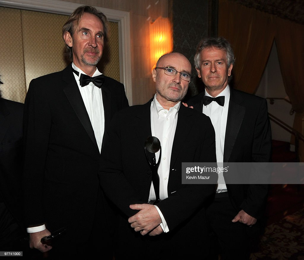*Exclusive* Mike Rutherford, Phil Collins and Tony Banks of Genesis attends the 25th Annual Rock and Roll Hall of Fame Induction Ceremony at The Waldorf=Astoria on March 15, 2010 in New York, New York.
