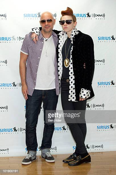 *Exclusive* Musicians Ben Langmaid and Elly Jackson of 'La Roux' visit SIRIUS XM Studio on June 8 2010 in New York City