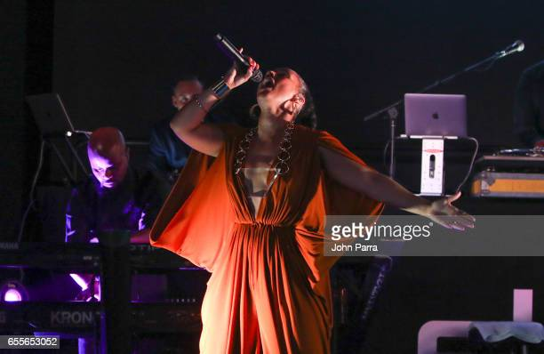Exclusive performance of Alicia Keys during the grand opening of the Porsche Design tower Miami on March 18 2017 in Miami Florida
