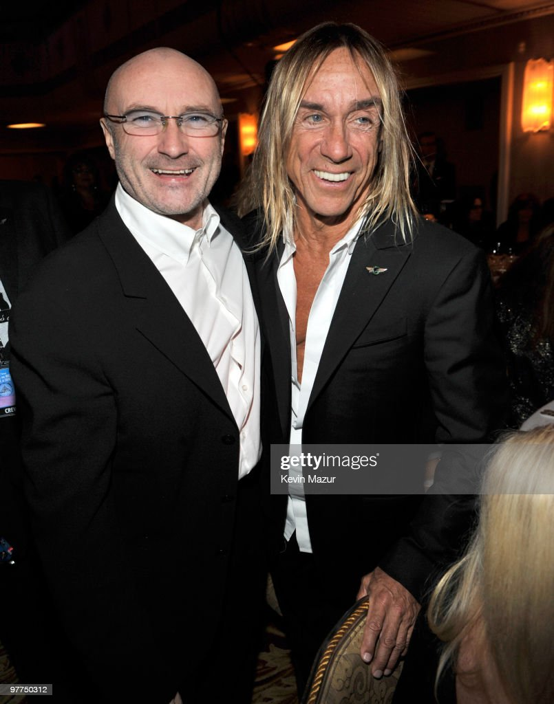 *Exclusive* Phil Collins and Iggy Pop attends the 25th Annual Rock and Roll Hall of Fame Induction Ceremony at The Waldorf=Astoria on March 15, 2010 in New York, New York.