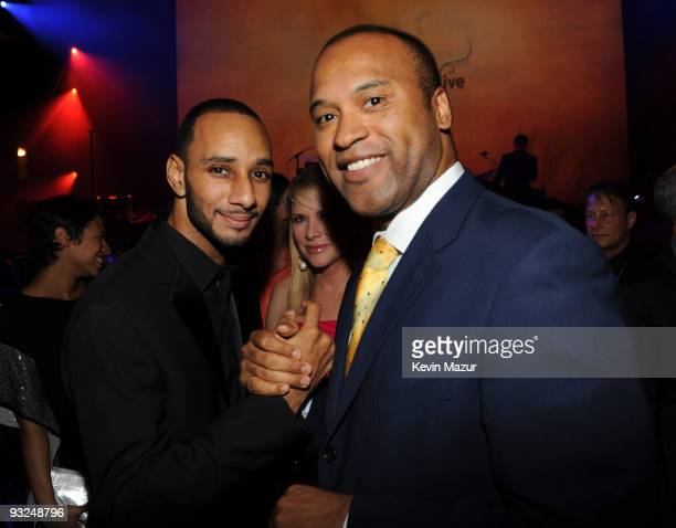 NEW YORK OCTOBER 15 *Exclusive* Swizz Beatz and Londell McMillan at Hammerstein Ballroom during Keep A Child Alive's 6th Annual Black Ball hosted by...