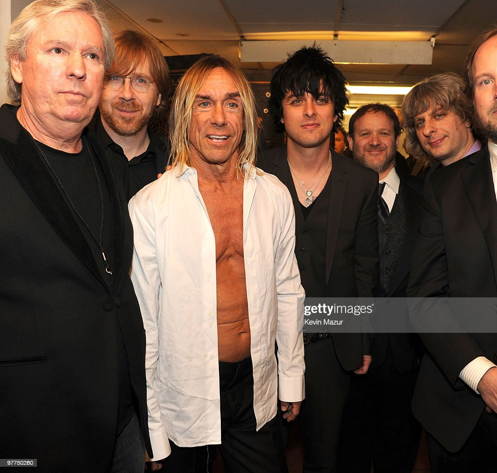 *Exclusive* Trey Anastasio of Phish, Iggy Pop and Billie Joe Armstrong of Green Day attends the 25th Annual Rock and Roll Hall of Fame Induction Ceremony at The Waldorf=Astoria on March 15, 2010 in New York, New York.
