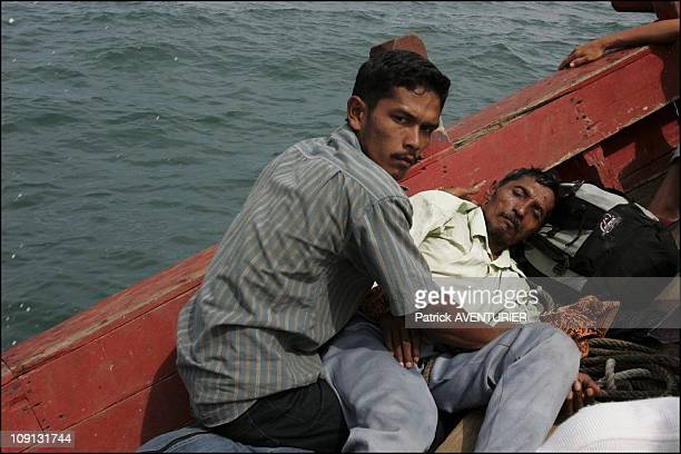 Exclusive Tsunami Survivors Fleeing The Western Coast Of Aceh On January 8 2005 In BandaAceh Indonesia Exclusive Deeply Shocked By The Tsunami...