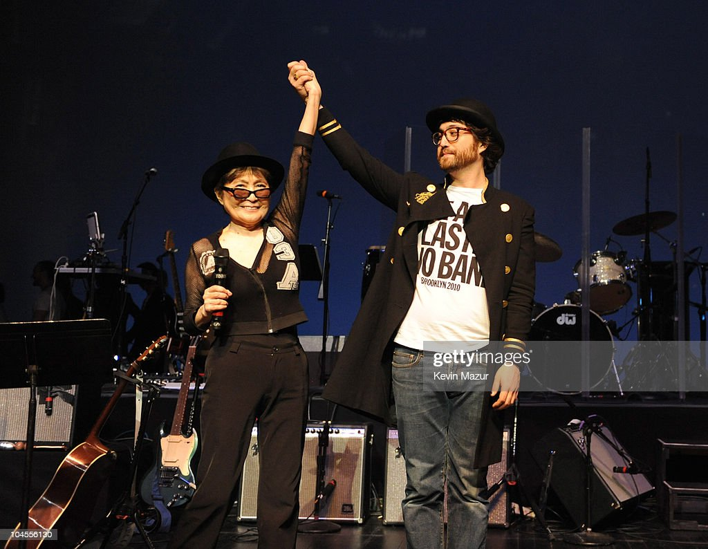 *Exclusive* Yoko Ono and Sean Lennon perform with the Plastic Ono Band at Brooklyn Academy of Music on February 16 2010 in Brooklyn New York