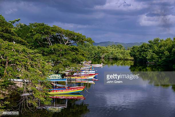 Excursion boats docked on theSouth Negril River