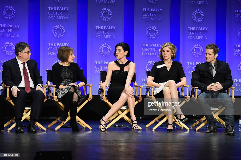 Exec Producer/Creators Robert King and Michelle King Julianna Margullies Christine Baranski Matt Czuchry on stage at The Paley Center For Media's...