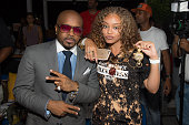 Exectuvie producer Jermaine Dupri and Miss Mulatto attend the private screening of Lifetime's 'The Rap Game' at Suite Food Lounge on July 22 2016 in...