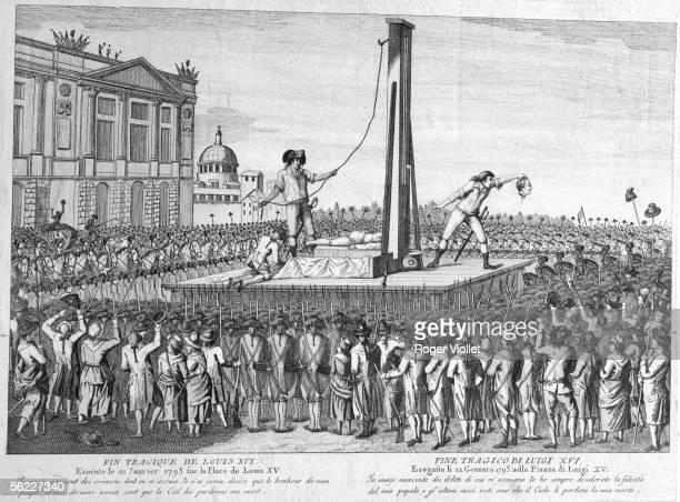 Execution of Louis XVI on January 21 1793 Engraving of Bibliotheque historique de la Ville de Paris