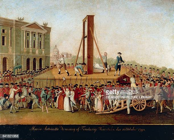 Execution of Marie Antoinette on October 16 painting from that time by an unknown Danish artist France 18th century