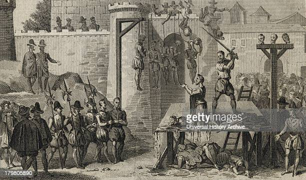 Execution of Protestants during Spanish Roman Catholic rule in the Netherlands under the Duke of Alva