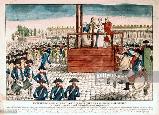 Execution of Queen MarieAntoinette October 16 engraving