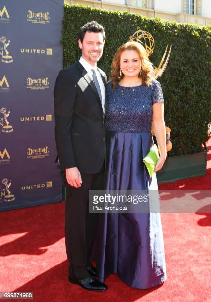 Executive Angelica McDaniel and her Husband Brian McDaniel attend the 44th annual Daytime Emmy Awards at The Pasadena Civic Auditorium on April 30...