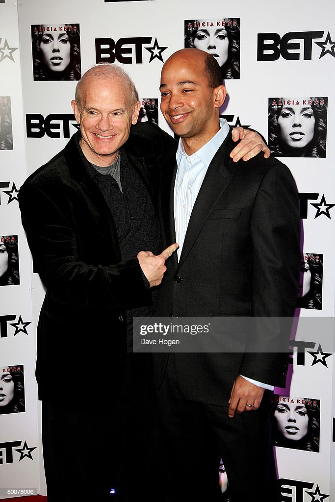 MTV executive Bill Roedy and Chief Operating Officer BET Networks Scott M Mills attend the UK launch party for Black Entertainment Television a...