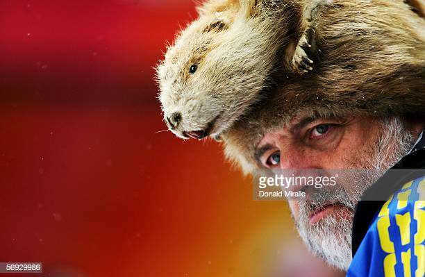 Executive Board member Paul Pruszynski attends the Four Man Bobsleigh event on Day 14 of the 2006 Turin Winter Olympic Games on February 24 2006 in...
