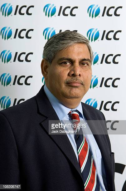 Executive Board Member Shashank Manohar poses for a portrait at the International Cricket Council Executive Board meeting on October 12 2010 in Dubai...