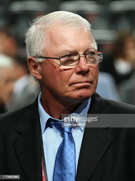 Executive Bobby Clarke of the Philadelphia Flyers attends the 2013 NHL Draft at Prudential Center on June 30 2013 in Newark New Jersey