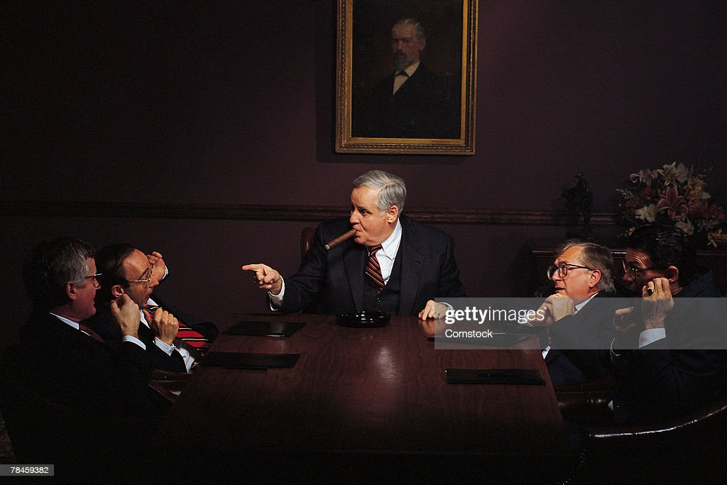 Executive businessmen meeting in conference room
