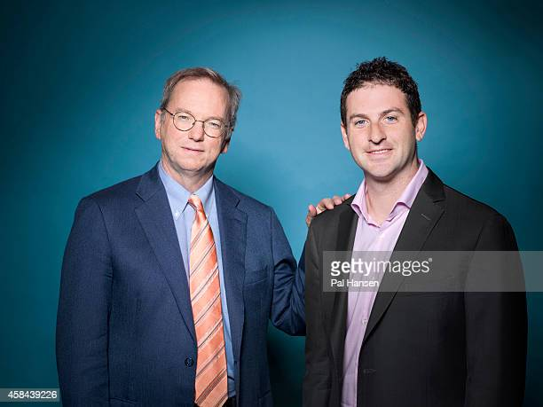 Executive chairman of Google Eric Schmidt is photographed with Jared Cohen who is Director of Google Ideas for Die Zeit magazine on May 22 2013 in...