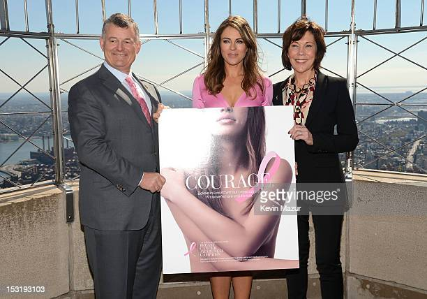 Executive chairman of the Estee Lauder companies William P Lauder Elizabeth Hurley and President specialty brands Bobbi Borwn Jo Malone and La Mer...