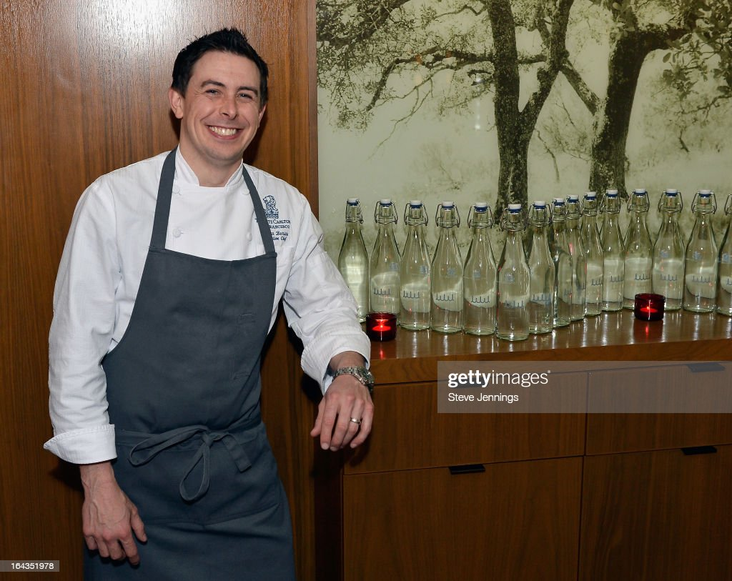 Executive Chef at the Ritz Carlton Nathan Beriau attends the WHOLE WORLD Water launch event at Parallel 37 at The Ritz-Carlton, San Francisco on March 22, 2013 in San Francisco, California.
