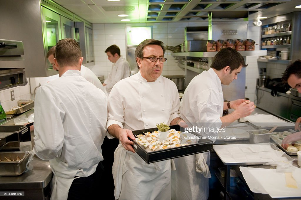 Executive Chef Daniel Boulud Working In The Kitchen At Lumiere Restaurant  In Vancouver Boulud Has Partnered Part 25