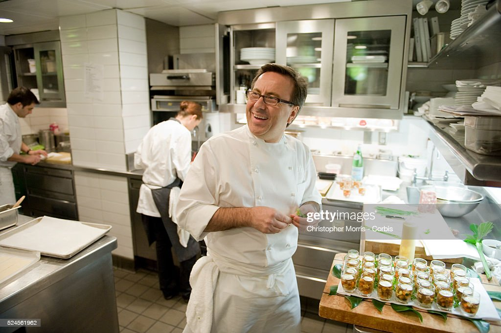 Executive Chef Daniel Boulud Working In The Kitchen At Lumiere Restaurant  In Vancouver Boulud Has Partnered Part 61