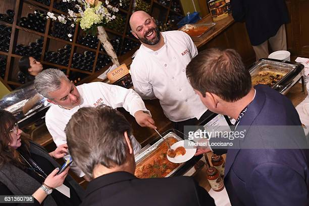 "Executive chef Dino Gatto serves Rao's meatballs and veal parmesan at an event hosted by Inside Access from Chase to celebrate the inaugural ""Best..."