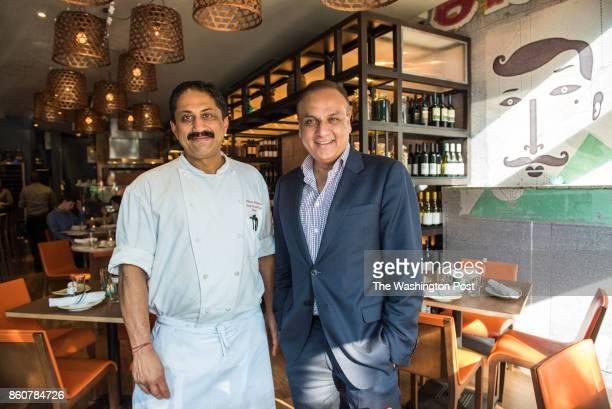 Executive Chef Vikram Sunderam with Owner Ashok Bajaj at Bindaas