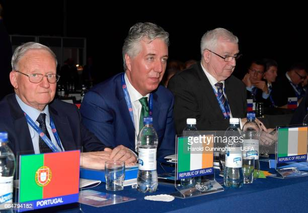 Executive Committee election candidate John Delaney Republic of Ireland during the 41st Ordinary UEFA Congress on April 5 2017 in Helsinki Finland