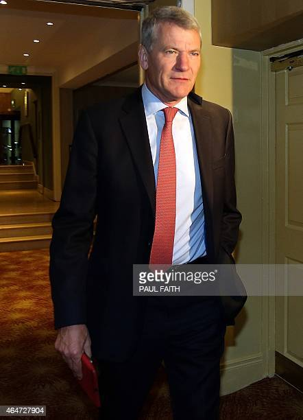 Executive Committee member David Gill arrives for the 129th Annual General Meeting of the International Football Association Board at the Culloden...