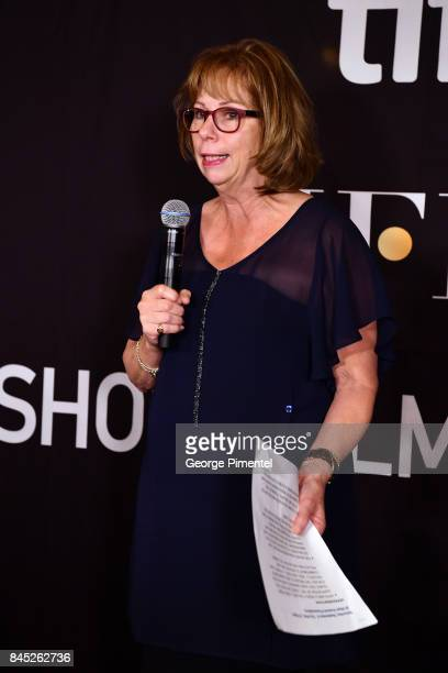 Executive Director and COO Michele Maheux presents the firstever 'HFPA TIFF Short Film Award' at The Hollywood Foreign Press Association and...