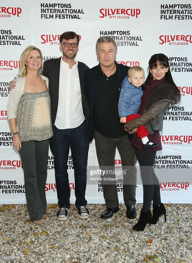 Executive Director Anne Chaisson, Artistic Director of HIFF David Nugent, Alec Baldwin, Carmen Gabriela Baldwin and Hilaria Baldwin attend the Chairman's Reception during Day 3 of the 23rd Annual Hamptons International Film Festival on October 10, 2015 in East Hampton, New York.
