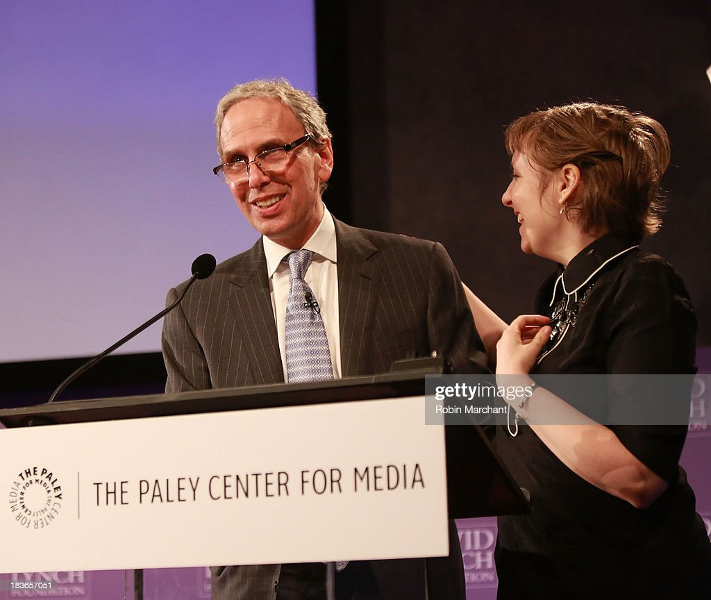 Executive Director at David Lynch Foundation Bob Roth (L) and Actress/ filmmaker <a gi-track='captionPersonalityLinkClicked' href=/galleries/search?phrase=Lena+Dunham&family=editorial&specificpeople=5836535 ng-click='$event.stopPropagation()'>Lena Dunham</a> attend Women in the Workplace: Reducing Stress With Meditation at Paley Center For Media on October 8, 2013 in New York City.