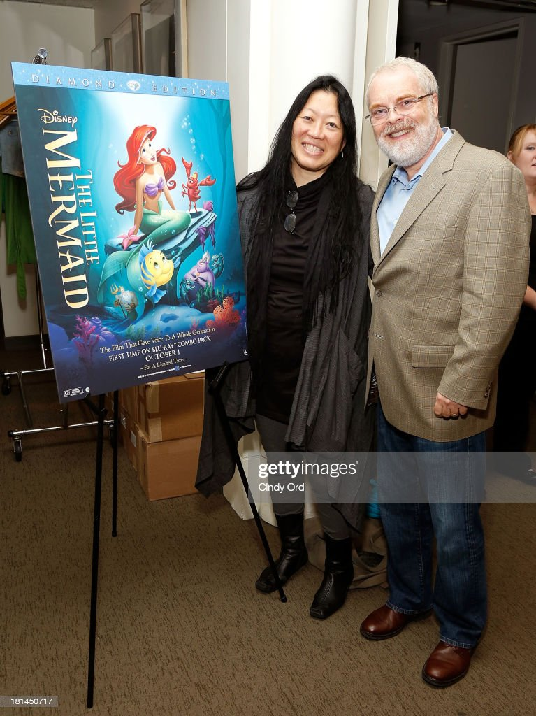 Executive Director at Film Society of Lincoln Center, Rose Kuo (L) and director Ron Clements attend Disney's The Little Mermaid special screening at Walter Reade Theater on September 21, 2013 in New York City.