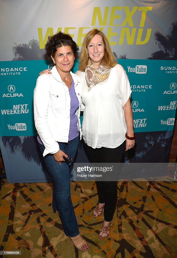 Executive Director at Sundance Institute <a gi-track='captionPersonalityLinkClicked' href=/galleries/search?phrase=Keri+Putnam&family=editorial&specificpeople=226879 ng-click='$event.stopPropagation()'>Keri Putnam</a> (R) and Nancy Gribler of Sundance Cinemas attend NEXT Shorts Program during NEXT WEEKEND, presented by Sundance Institute at Sundance Sunset Cinema on August 10, 2013 in Los Angeles, California.