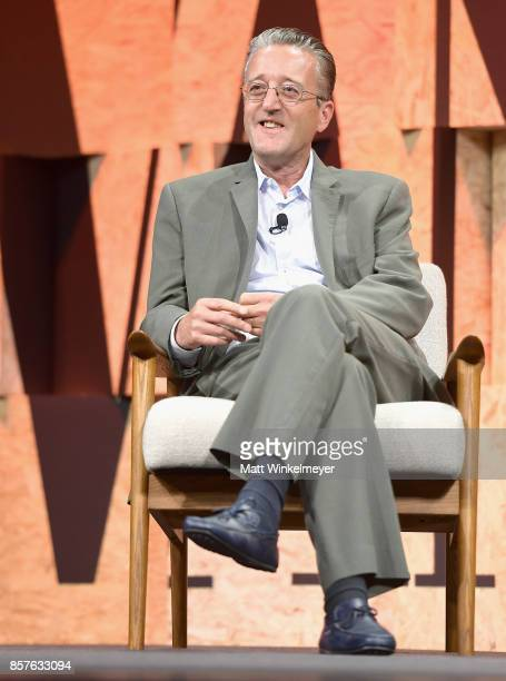 Executive Director at the Center for Curatorial Studies Bard College Tom Eccles speaks onstage during Vanity Fair New Establishment Summit at Wallis...