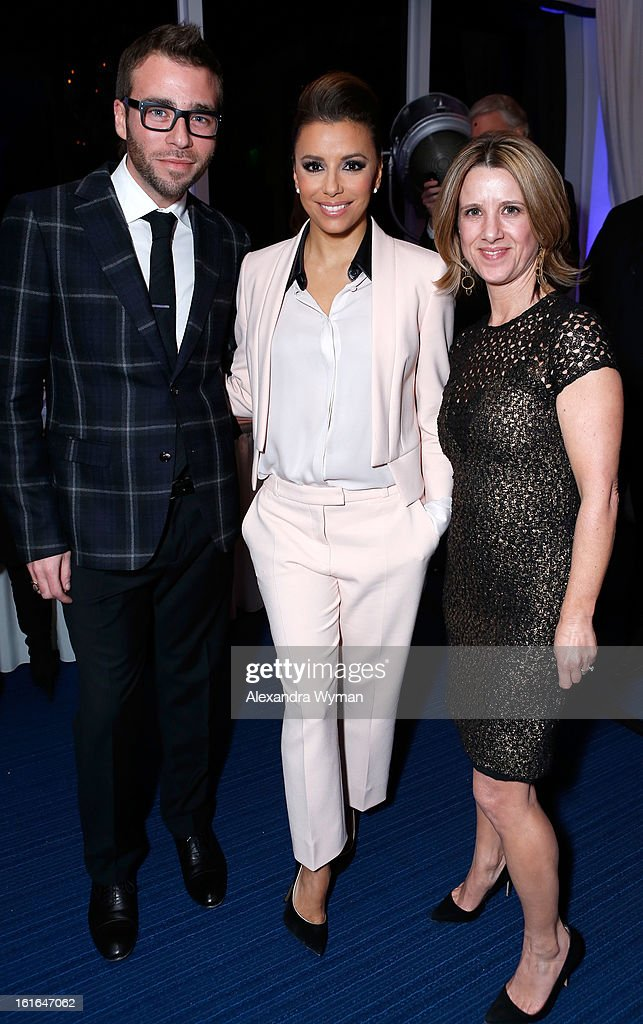 Executive Director, Brand Strategy at Conde Nast Traveler, Lance Williams, actress <a gi-track='captionPersonalityLinkClicked' href=/galleries/search?phrase=Eva+Longoria&family=editorial&specificpeople=202082 ng-click='$event.stopPropagation()'>Eva Longoria</a> and Global Ad Director at Conde Nast Traveler, Lisa Weier join Conde Nast Traveler as they celebrate The Leading Hotels Of The World 85th Anniversary at Mr. C Beverly Hills on February 13, 2013 in Beverly Hills, California.