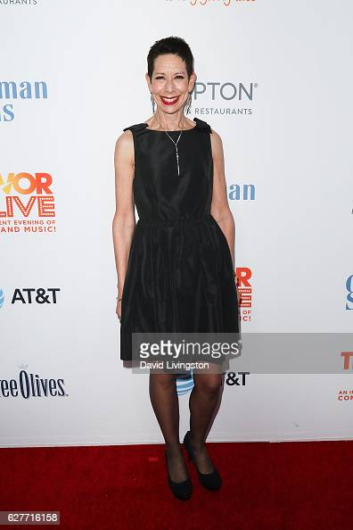 Executive Director CEO of The Trevor Project Abbe Land arrives at the TrevorLIVE Los Angeles 2016 Fundraiser at The Beverly Hilton Hotel on December...