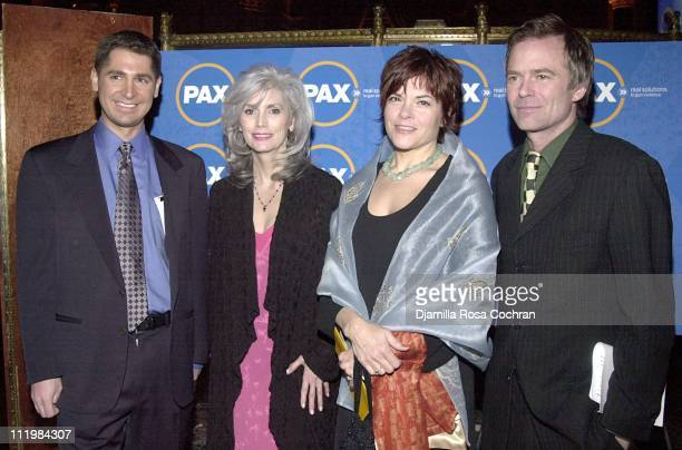 PAX executive director Daniel Gross Emmylou Harris Rosanne Cash and PAX coexecutive director Talmage Cooley