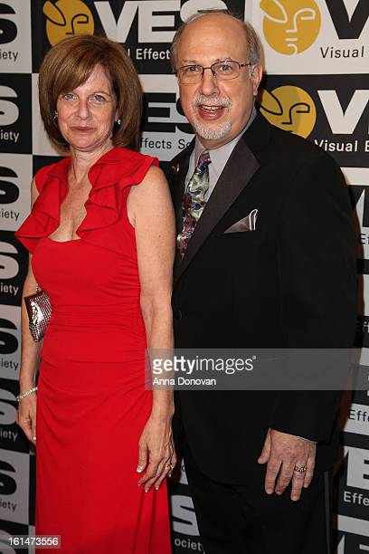 Executive Director Eric Roth and his wife attend the 11th annual Visual Effects Society Awards at the Beverly Hilton Hotel on February 5 2013 in...