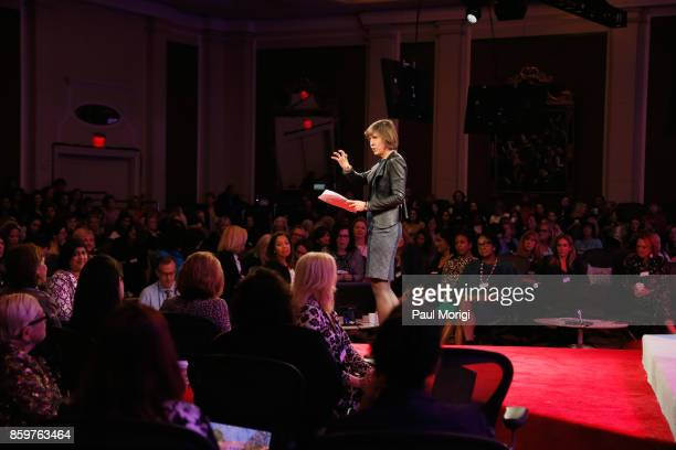 Executive Director Fortune MPW Summits and Live Content Pattie Sellers speaks onstage at Fortune Most Powerful Women Summit Day 2 on October 10 2017...