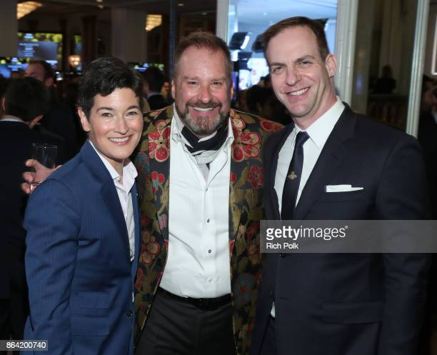 Executive Director GLSEN Eliza Byard honoree cochair Jim Fielding and president ABC Studios Patrick Moran at the 2017 GLSEN Respect Awards at the...