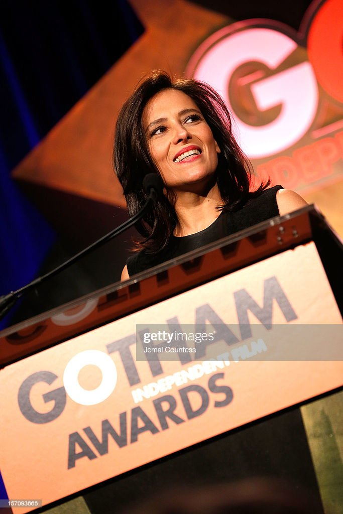 IFP Executive Director Joana Vicente speaks onstage at the IFP's 22nd Annual Gotham Independent Film Awards at Cipriani Wall Street on November 26, 2012 in New York City.