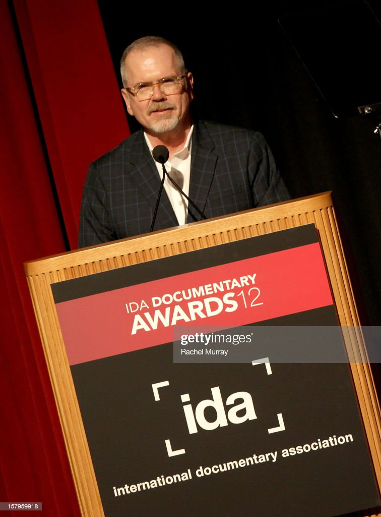 Executive Director Michael Lumpkin speaks onstage during the International Documentary Association's 2012 IDA Documentary Awards at DGA Theater on December 7, 2012 in Los Angeles, California.