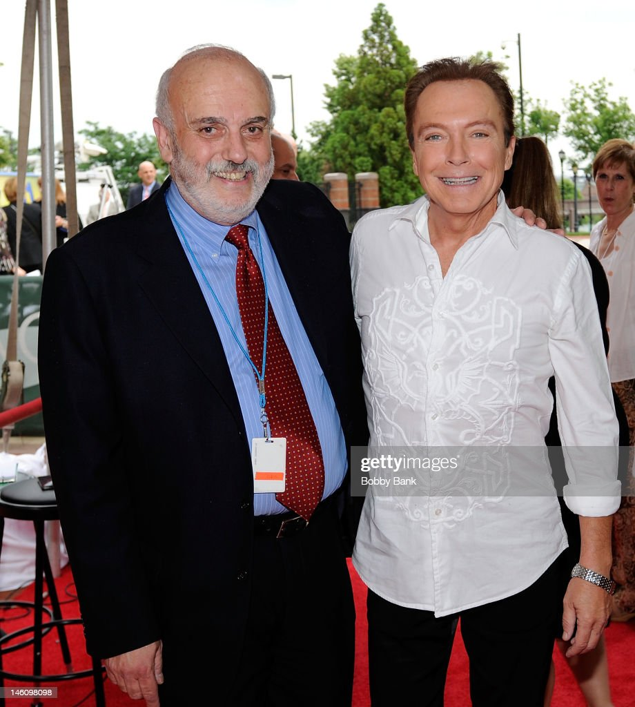 Executive Director New Jersey Hall of Fame,Don Jay Smith and <a gi-track='captionPersonalityLinkClicked' href=/galleries/search?phrase=David+Cassidy&family=editorial&specificpeople=208873 ng-click='$event.stopPropagation()'>David Cassidy</a> attend The 5th Annual New Jersey Hall Of Fame Induction Ceremony at New Jersey Performing Arts Center on June 9, 2012 in Newark, New Jersey.