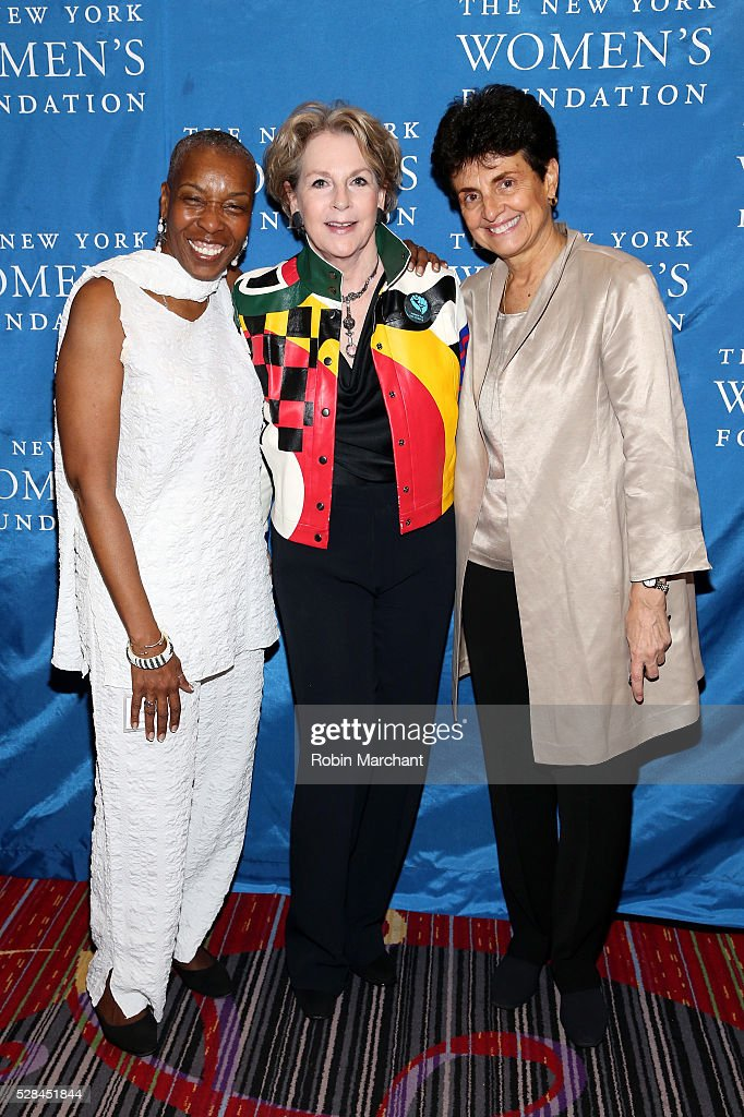 Executive director of Correctional Association Soffiyah Elijah, Honoree Elizabeth Sackler and President & CEO of The New York Women's Foundation Ana L. Oliveira attend The New York Women's Foundation's 2016 celebration womens breakfast on May 5, 2016 in New York City.