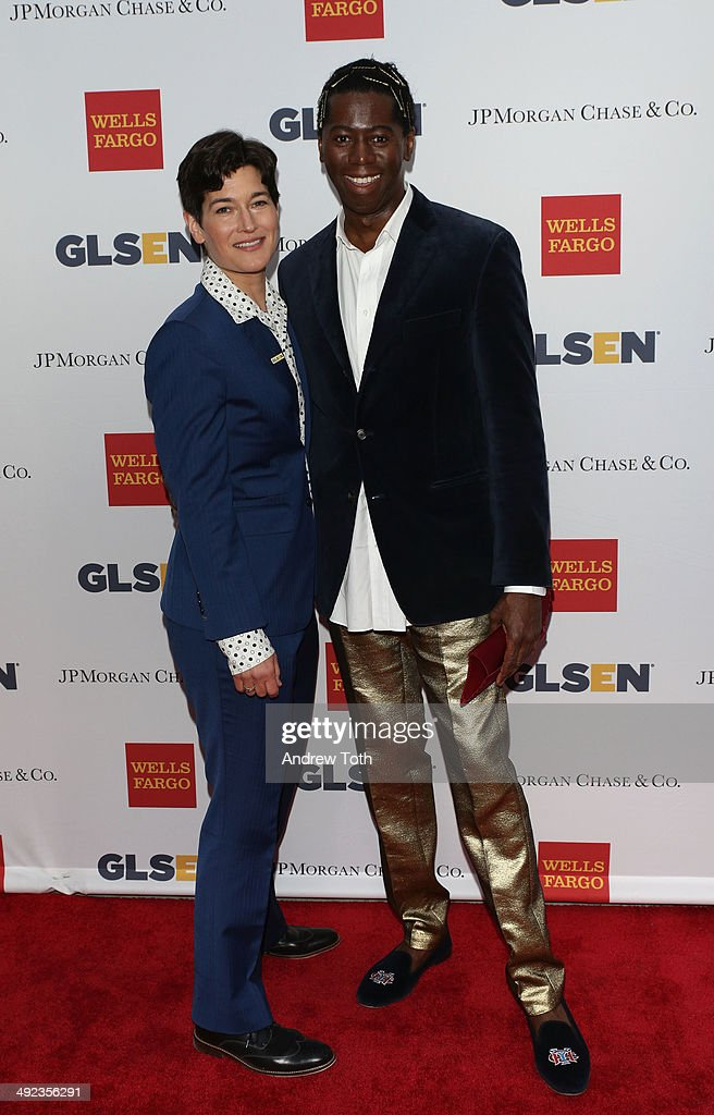 Executive Director of GLSEN Dr. Eliza Byard (L) and Miss J Alexander attend 11th Annual GLSEN Respect awards at Gotham Hall on May 19, 2014 in New York City.